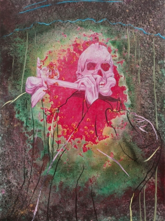 Wild Strawberries, Marc Molk, 2013, oil and acrylic on canvas, 51,2 x 38,2 in