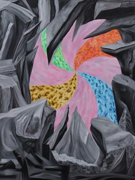 L'Aleph, Marc Molk, 2013, huile et acrylique sur toile, 130 x 97 cm