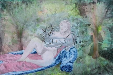 La libération sexuelle, Marc Molk, 2008, huile et acrylique sur toile, 195 x 130 cm