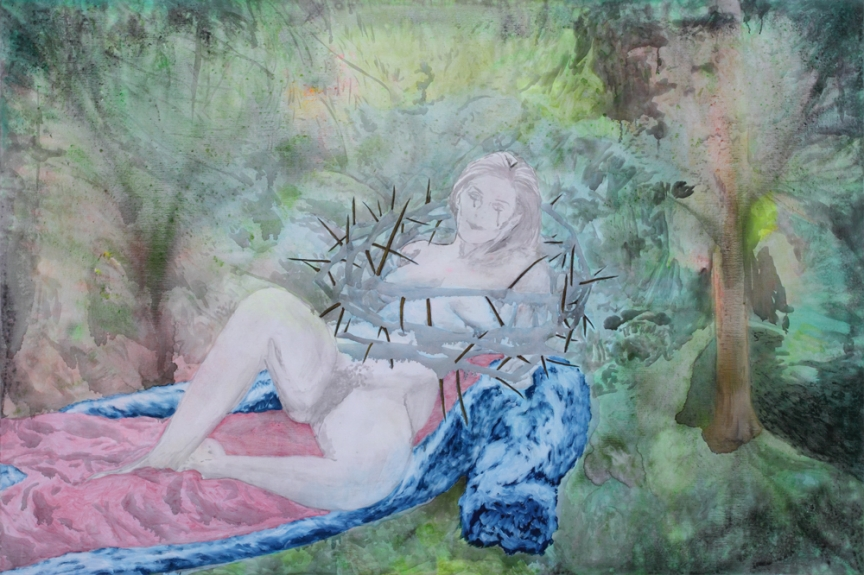 The sexual liberation, Marc Molk, 2008, oil and acrylic on canvas, 51,2 X 76,8 in