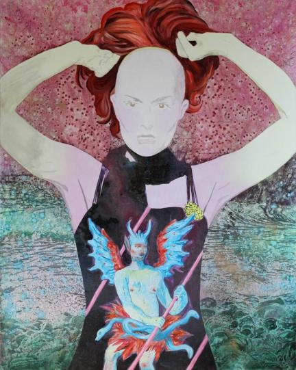 La Théorie des genres, Marc Molk, 2012, huile et acrylique on canvas, 162 x 130 cm