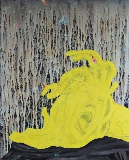 La Vie d'artiste, Marc Molk, 2012, huile et acrylique sur toile, 100 x 81 cm