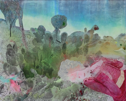 Le bosquet de Vénus, Marc Molk, 2009, huile et acrylique sur toile, 130 x 162 cm