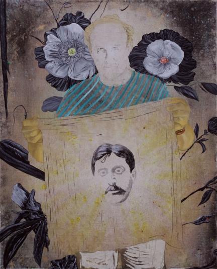 Le culte du style, Marc Molk, 2013, huile et acrylique sur toile, 162 x 130 cm