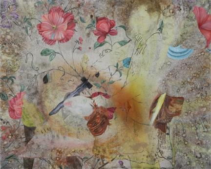 Les Histoires d'amour, Marc Molk, 2015, huile et acrylique sur toile, 130 x 162 cm