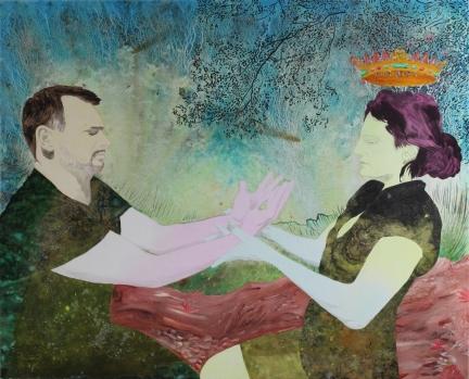 L'Esprit des vivants, Marc Molk, 2012, huile et acrylique sur toile, 130 x 162 cm