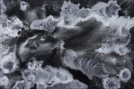 Nuit n°4, Marc Molk, 2009, huile et acrylique sur toile, 130 x 195 cm