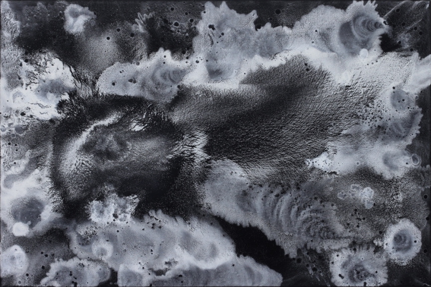 Night #4, Marc Molk, 2009, oil and acrylic on canvas, 51,2 x 76,8 in
