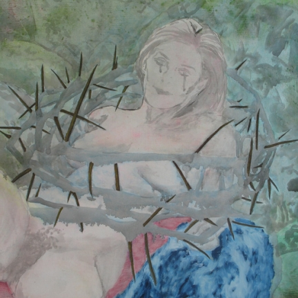 Detail / The sexual liberation, Marc Molk, 2008, oil and acrylic on canvas, 51,2 X 76,8 in
