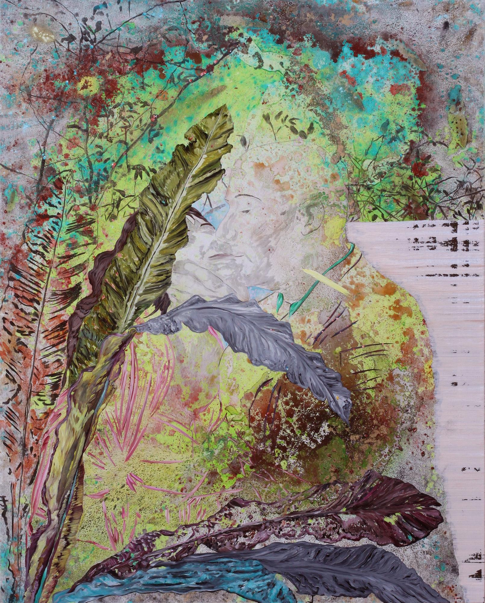 Tentative immobile de bien t'embrasser, Marc Molk, 2015, huile et acrylique sur toile, 162 x 130 cm