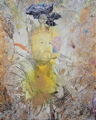 Still attemp to reign over France, Marc Molk, 2015, oil and acrylic on canvas, 63,8 x 51,2 in