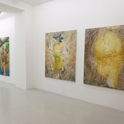 On the left : Marc Molk / In the middle : Marion Bataillard / On the right (diptych) : Marc Molk