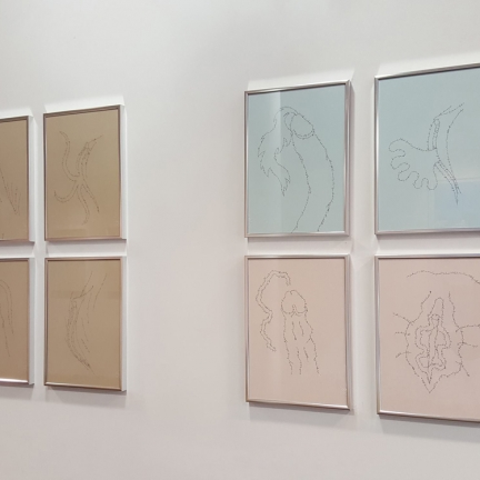 The instance of the letter / Group show / MARC MOLK (on the picture), CHÉRI SAMBA, KIMIKO YOSHIDA
