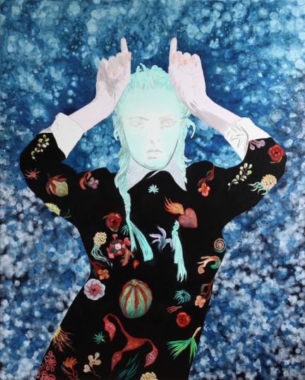 Le grand Amour, Marc Molk, 2011, huile et acrylique sur toile, 162 x 130 cm