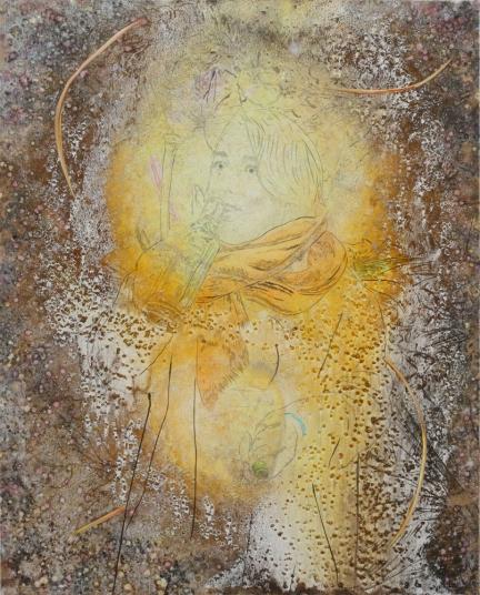 Le pouvoir des élixirs, Marc Molk, 2016-2017, huile et acrylique sur toile, 162 x 130 cm