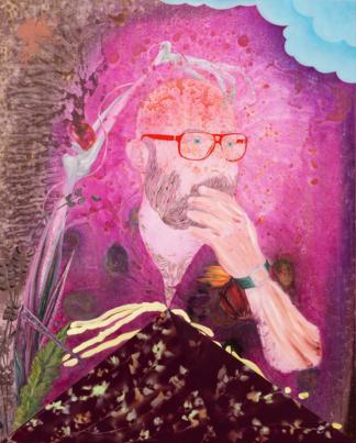 Rien n'est jamais acquis à l'homme, Marc Molk, 2017, huile et acrylique sur toile, 162 x 130 cm