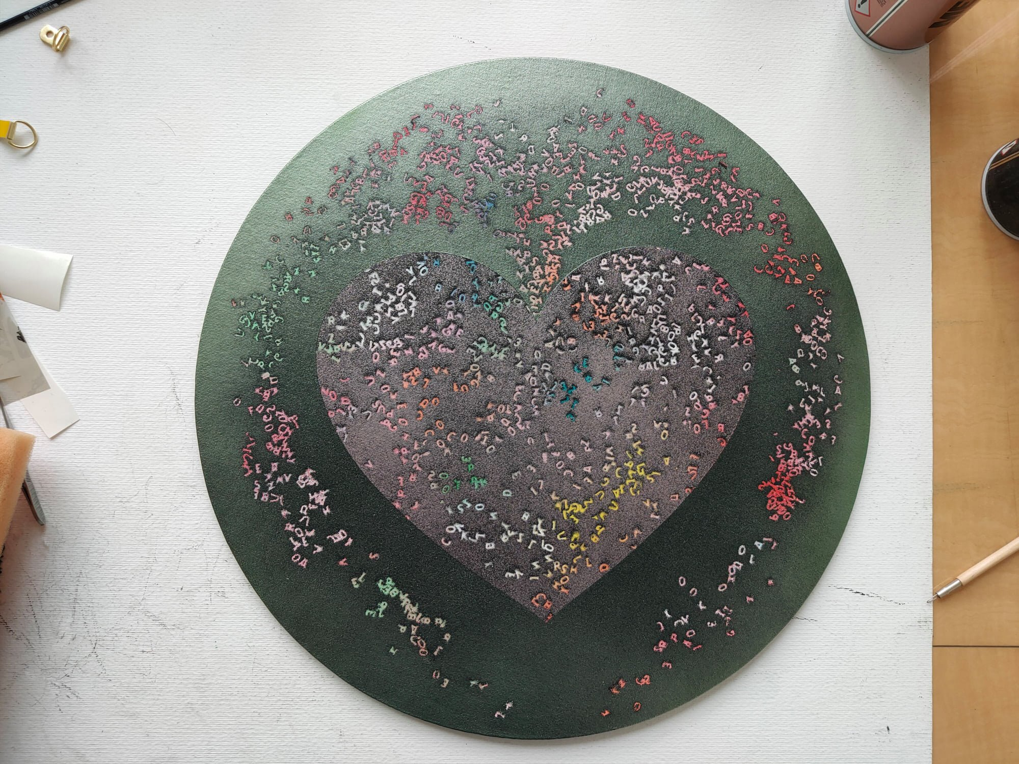 Like a Fountain of Youth, Marc Molk, 2020, acrylic on canvas board, diameter 15,7 in