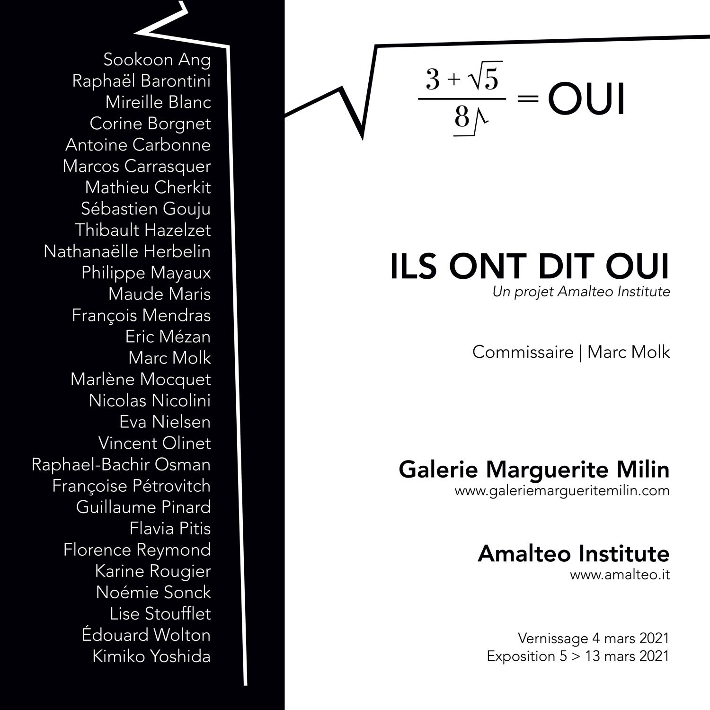 ILS ONT DIT OUI - Curator Marc Molk