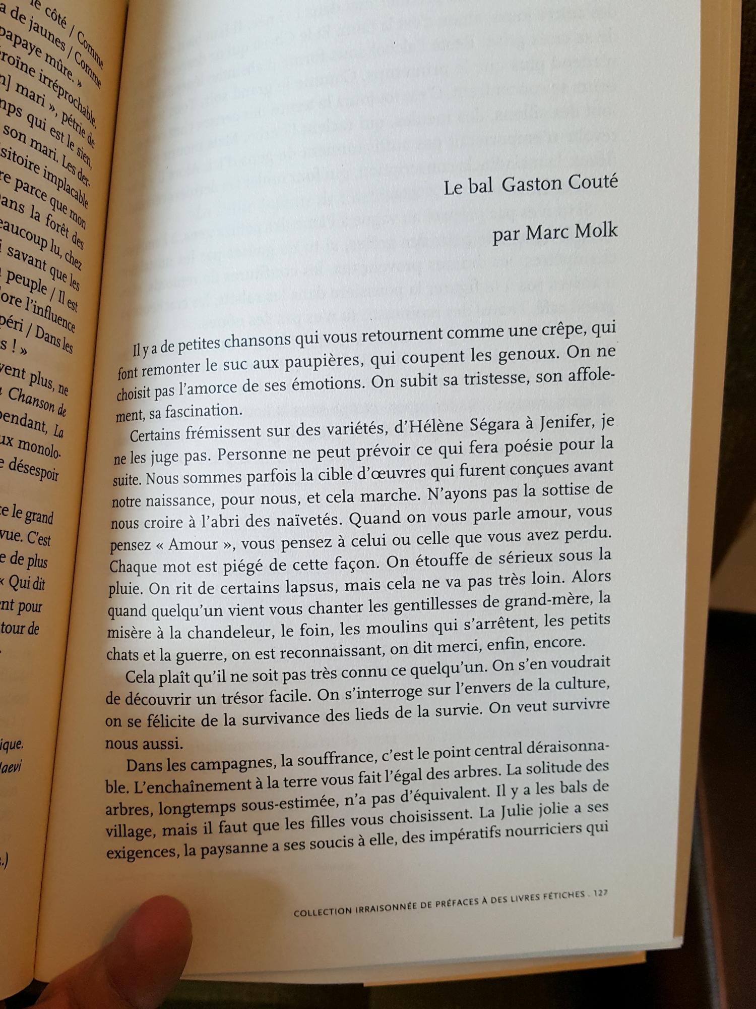 Collection irraisonnée de préfaces à des livres fétiches, éditions Intervalles, mars 2008
