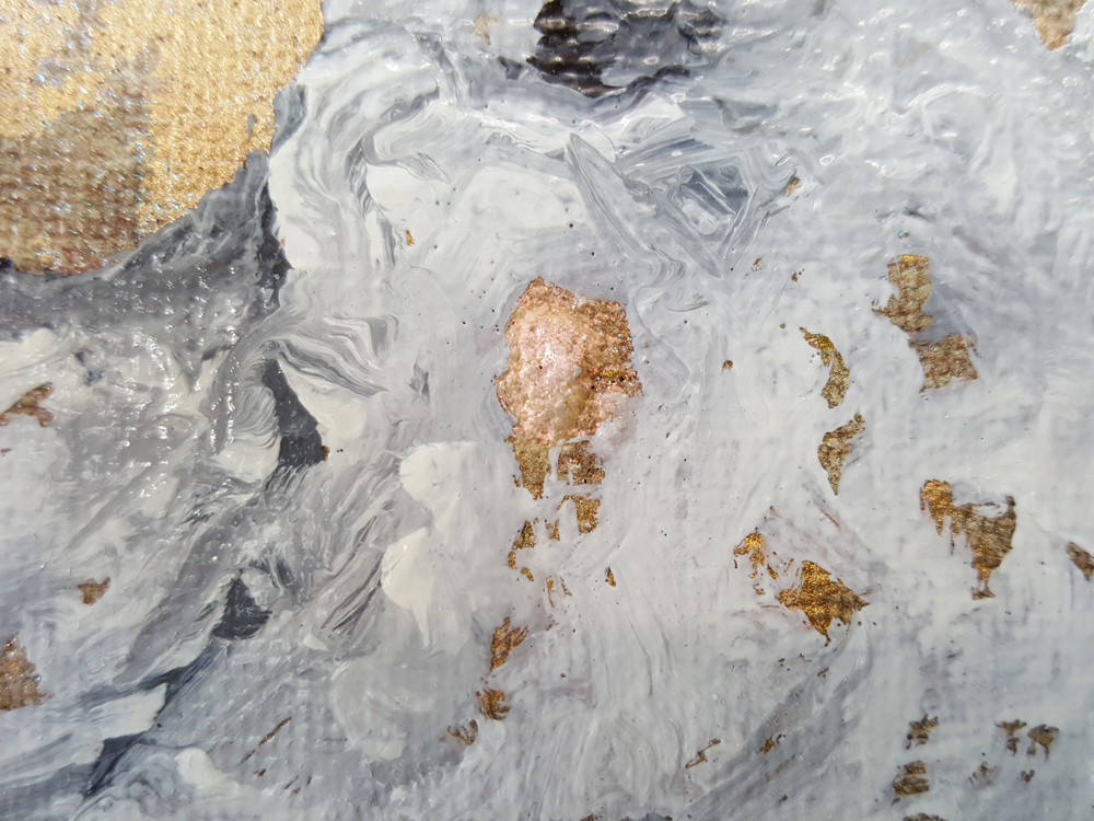 Detail / Clémentine's heart is an overblown rose, Marc Molk, 2014, oil and acrylic on canvas, 31,9 x 39,4 in