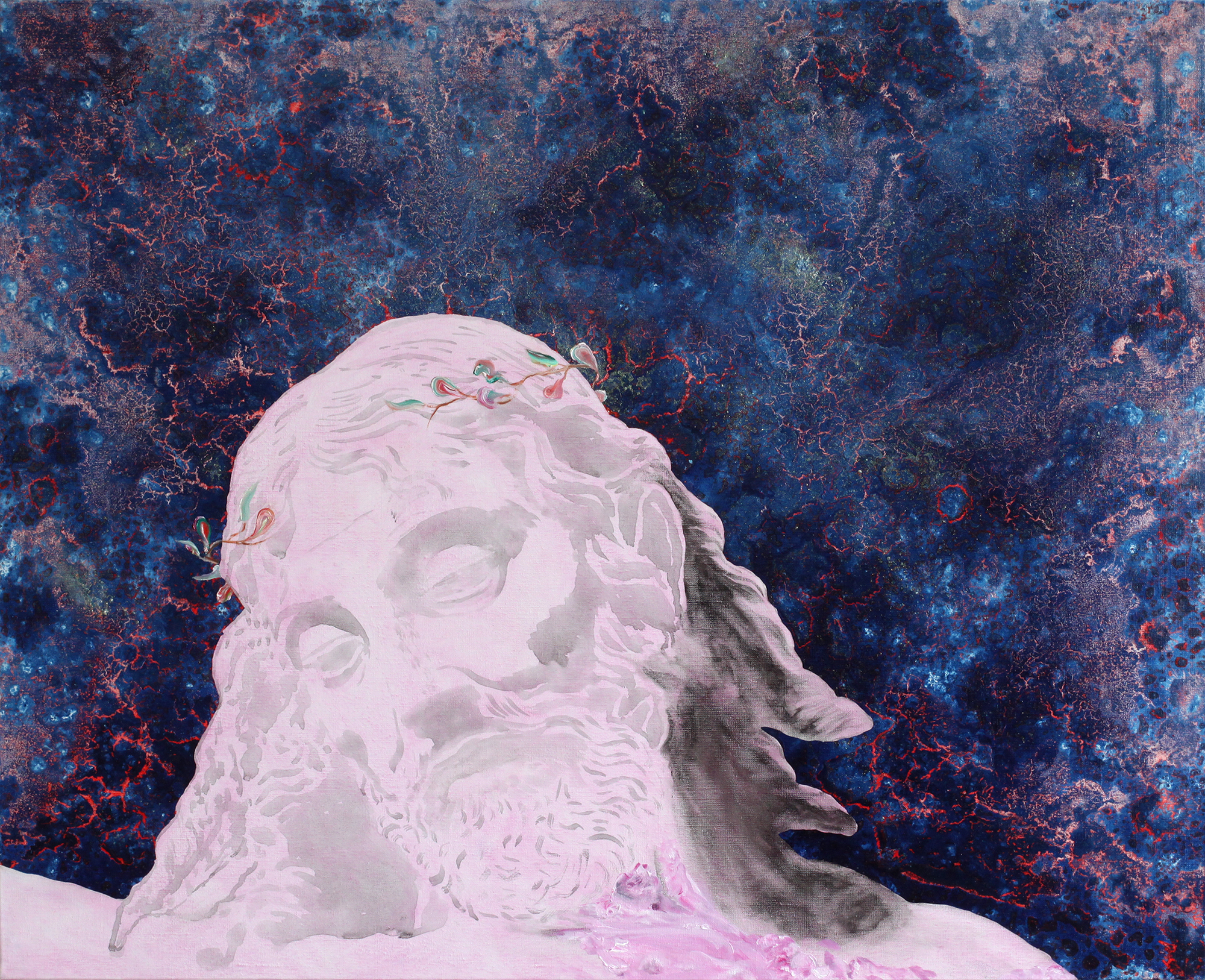 Impasse de la gentillesse, Marc Molk, 2012, huile et acrylique sur toile, 81 x 100 cm