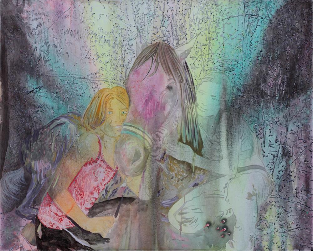 La fausse meilleure amie, Marc Molk, 2010, huile et acrylique sur toile, 130 x 162 cm