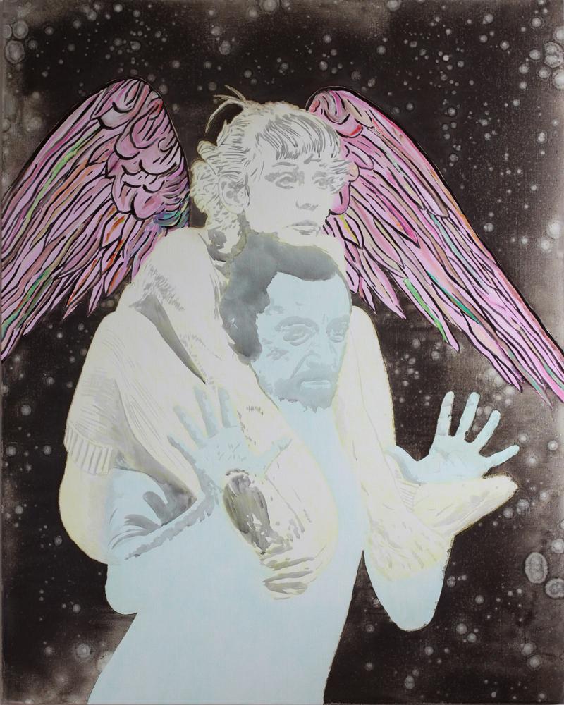 La peur d'aimer, Marc Molk, 2011, huile et acrylique sur toile, 162 x 130 cm