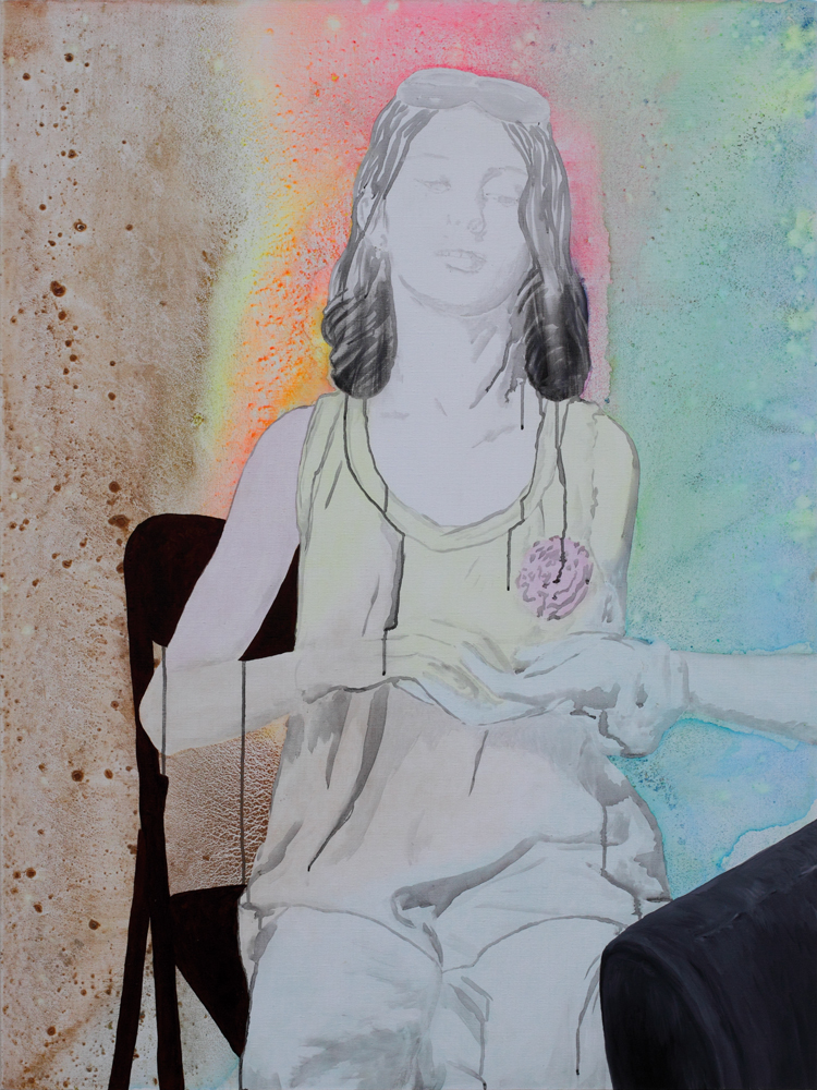 La promesse du bonheur, Marc Molk, 2010, huile et acrylique sur toile, 130 x 97 cm