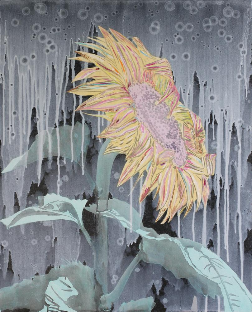 La quarantaine, Marc Molk, 2012, huile et acrylique sur toile, 100 x 81 cm