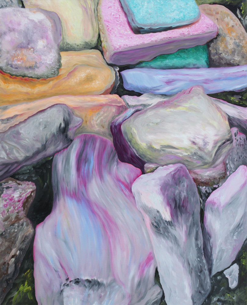 Les difficultés de l'existence, Marc Molk, 2011, huile et acrylique sur toile