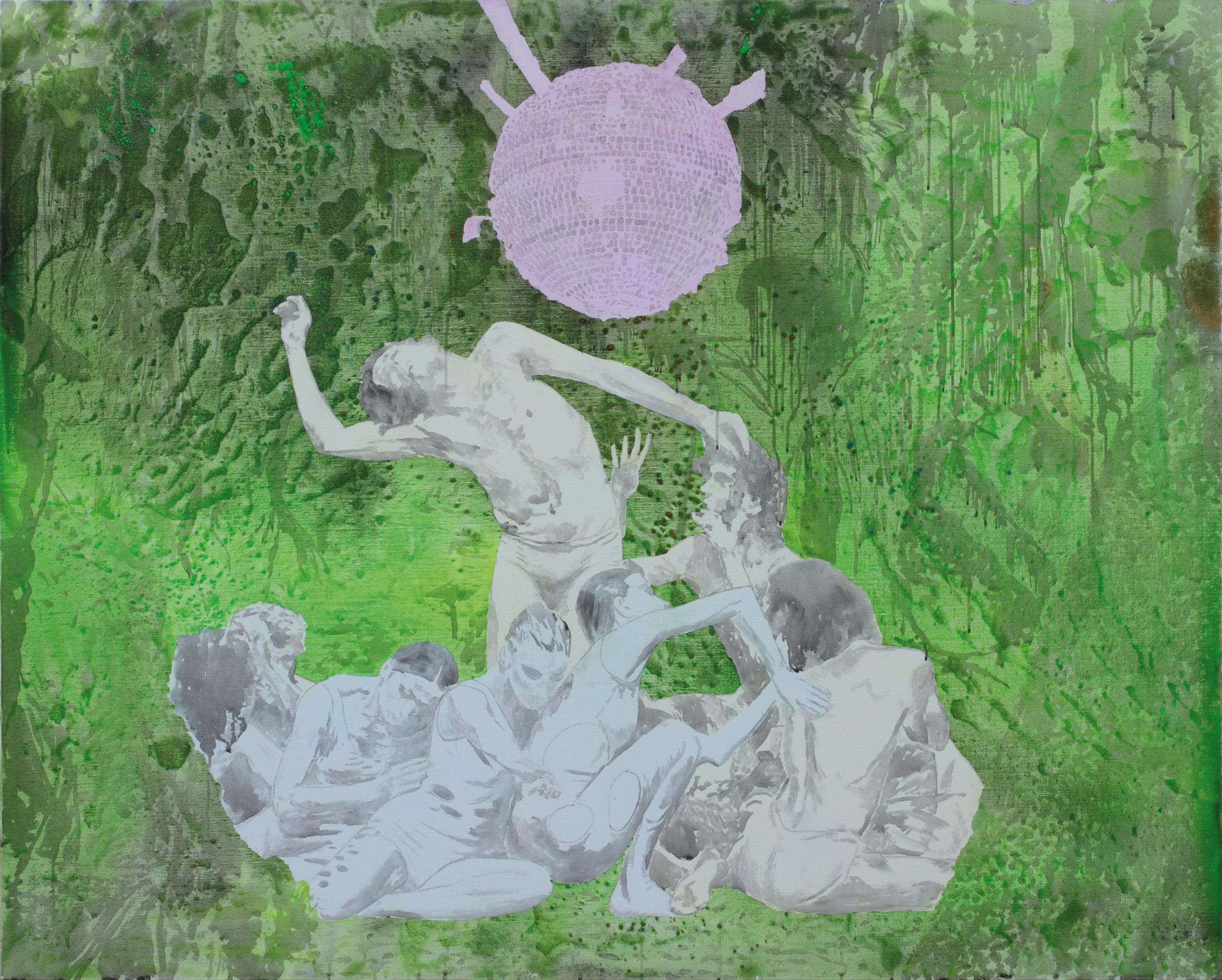 Les temps à venir, Marc Molk, 2009, huile et acrylique sur toile, 130 x 162 cm