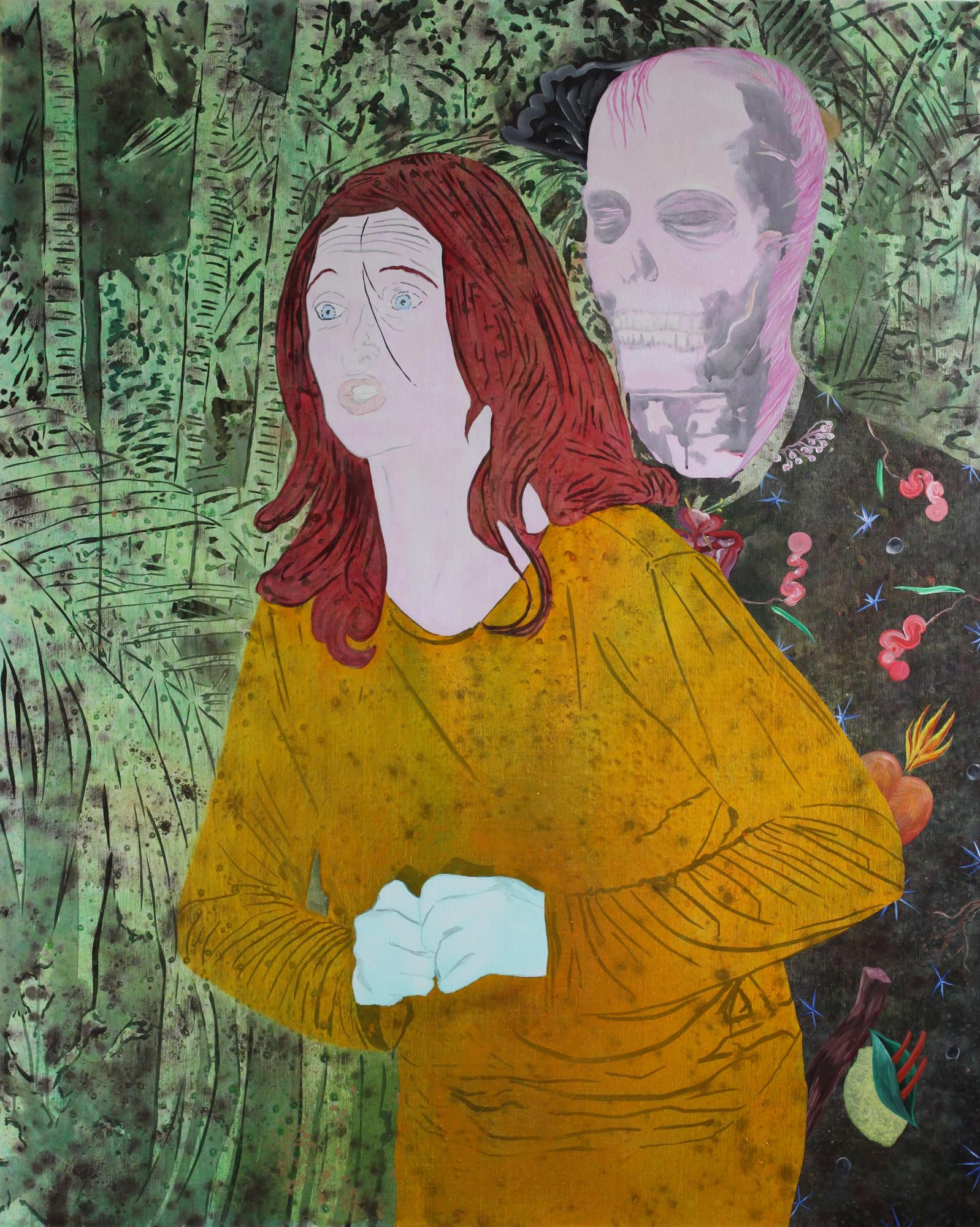 Le Temps perdu ne se rattrape plus, Marc Molk, 2012, huile et acrylique sur toile, 162 x 130 cm