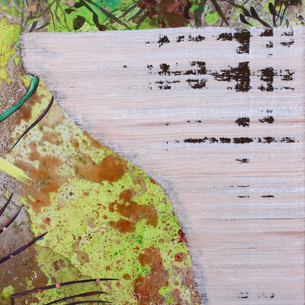 Détail / Tentative immobile de bien t'embrasser, Marc Molk, 2015, huile et acrylique sur toile, 162 x 130 cm
