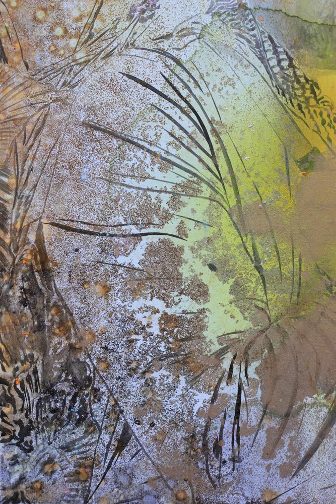Détail / Marc Molk, 2015, huile et acrylique sur toile, 162 x 130 cm