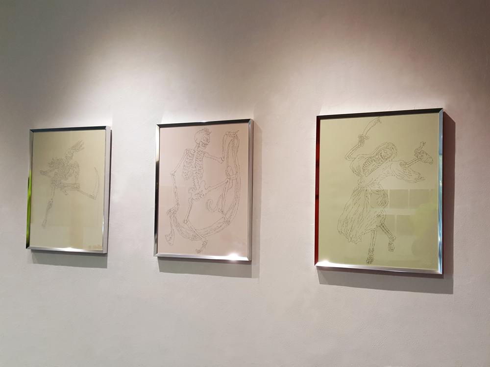 L'instance de la lettre / Exposition collective / MARC MOLK (sur la photographie), CHÉRI SAMBA, KIMIKO YOSHIDA
