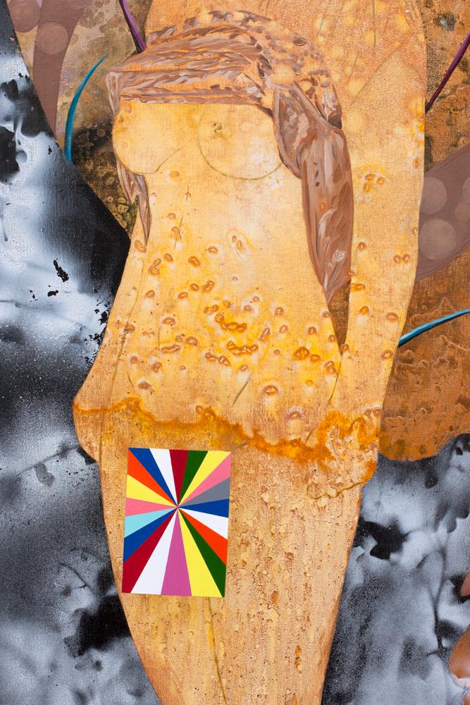 Détail / La Nixe, Marc Molk, 2017, huile et acrylique sur toile, 162 x 130 cm