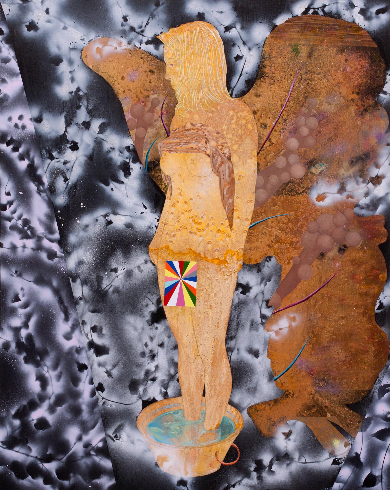La Nixe, Marc Molk, 2017, huile et acrylique sur toile, 162 x 130 cm