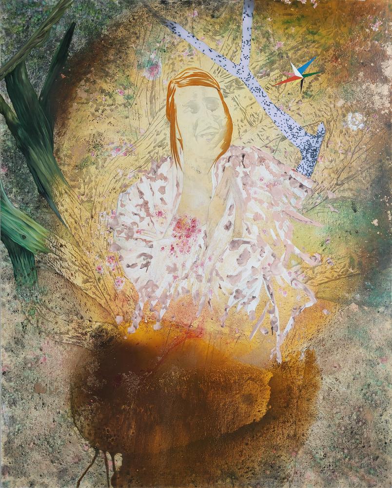 Brusque métamorphose en femme mariée, Marc Molk, 2019, huile et acrylique sur toile, 162 x 130 cm