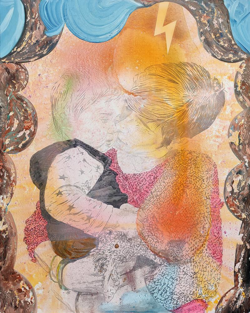 La Promesse, Marc Molk, 2020, huile et acrylique sur toile, 162 x 130 cm